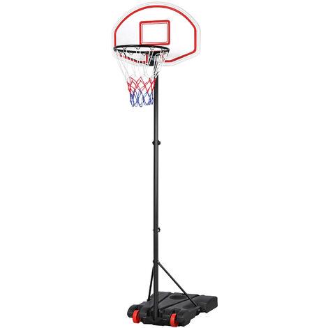 1.9-2.5M Adjustable Portable Basketball Net Hoop Backboard Stand Set Youth Kids