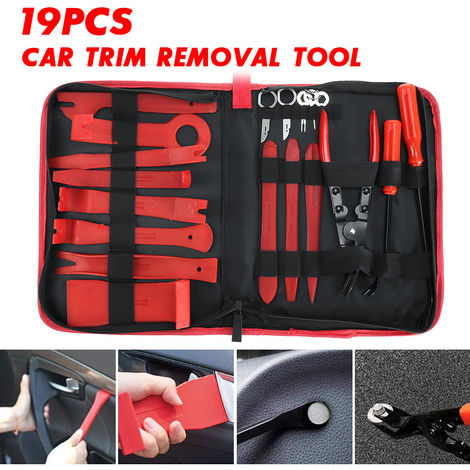 19 piezas de herramientas para el interior del coche, extracción de molduras de puerta de panel de palanca de mano