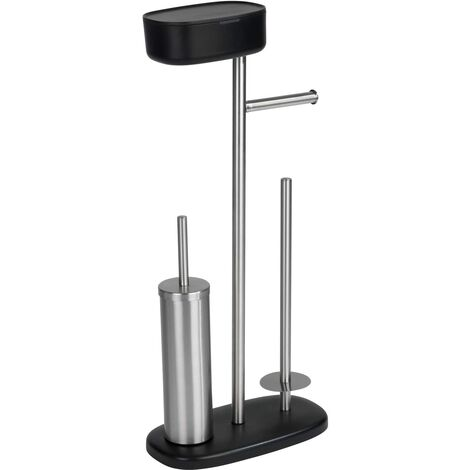 (19) Stand WC-Garnitur m Box Rivazza, schwarz