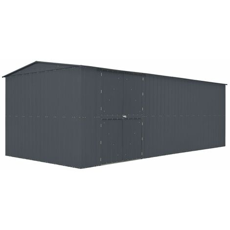 19 x 10 Anthracite Grey Metal Workshop (2.95m x 5.78m)
