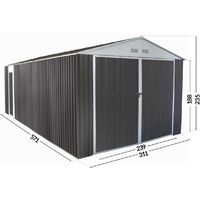 19' x 3' 6'' Metal Garage Nevada with swinging door