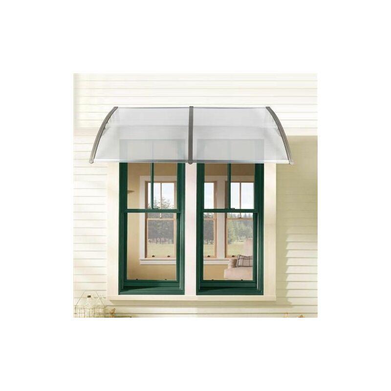 190 x 100 porte et fenêtre pour application domestique - Gris argent - Gris argent