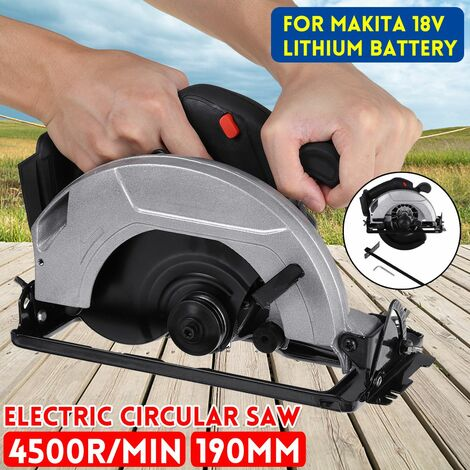 190mm 7.5inch Cordless Electric Circular Saw 10000RPM 45 ¡ã Curved Cutter Adjustable High Power Woodworking Saw for Makita 18V Battery