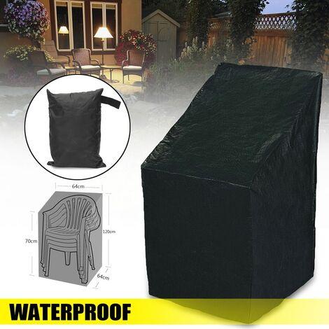 190T PE Funda de silla impermeable para jardín al aire libre Muebles de patio Dirt Rain Protectio Frost Ice Sun Shield Protección contra la nieve (Tamaño: 64x64x120 / 70cm) LAVENTE