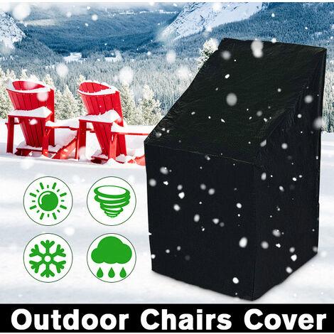 190T PE Funda de silla impermeable para jardín al aire libre Muebles de patio Dirt Rain Protectio Frost Ice Sun Shield Protección contra la nieve (Tamaño: 64x64x120 / 70cm) Sasicare