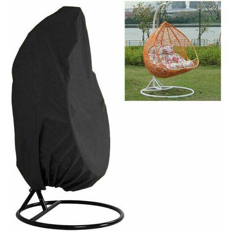 190x115cm Housse de Fauteuil Suspendu,pour Votre Chaise à Oeuf pivotant Chaise à dosette caractéristiques Ourlet élastique avec Cordon matériau Polyester tissé 210D avec revêtement PU
