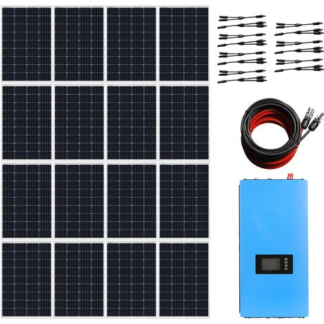 1920W 12V System 16x 120W Solar Panel 2000W Grid Tie Solar Power Inverter UK