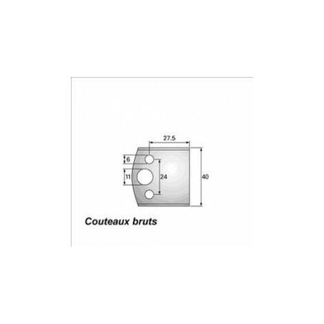 193 : jeu de 2 fers 40 mm bruts à usiner pour porte outils 40 et 50 mm