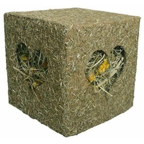 19518 -  Edible Gnaws I Love Hay Cube - Large