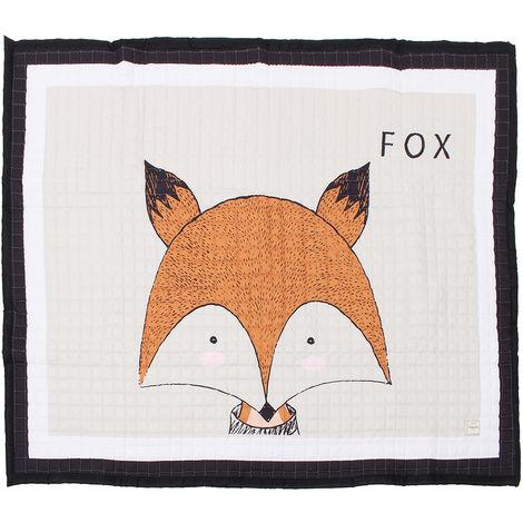 195X145Cm Big Big Soft Rectangle Baby Kids Play Floor Mat Rugs Crawling Blanket Fox