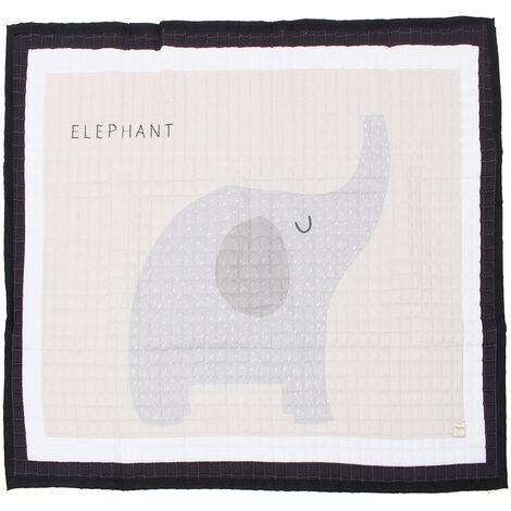 195x145cm Big Large Soft Rectangle Baby Kids Play Mat Floor Mat Crawling Blanket (Elephant 195X145cm)