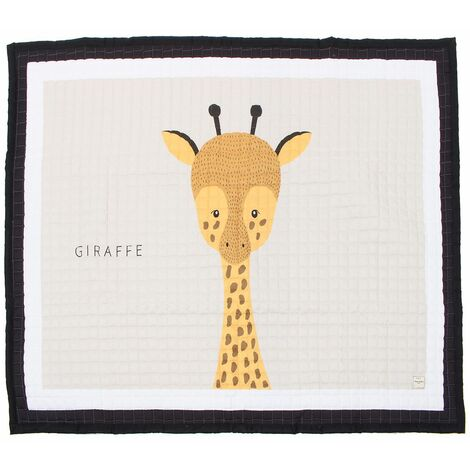 195x145cm Big Large Soft Rectangle Baby Kids Play Mat Floor Mat Crawling Blanket (Giraffe 195X145cm)