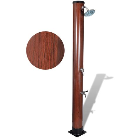 1.96 m Pool Solar Shower with Faux Wood Finish
