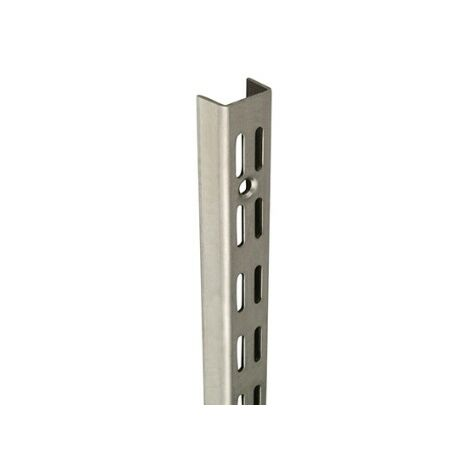 1.98m/1980mm Stainless Steel Twin Slot Shelving Upright