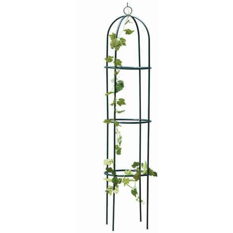 "main image of ""1.9M Metal Garden Obelisk Climbing Plant Support Frame"""