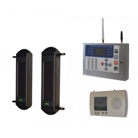 1B-100 GSM 900 metre Wireless Perimeter Beams with Receiver & KP H/D GSM Auto-Dialler
