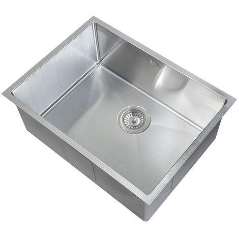 1cm Radius handgefertigtes eckiges Küche Spülbecken für den Unterbau (DEDS016)