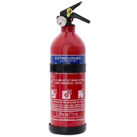 1kg Economy Powder Fire Extinguisher - UltraFire