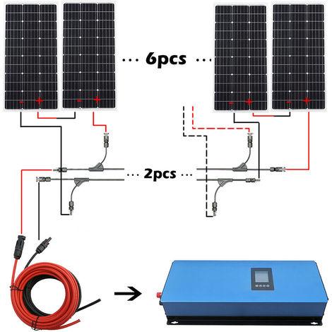 1KW Grid Tie Solar System Kit 6x 100W Solar Panel & 1000 Pure Sine Inverter UK