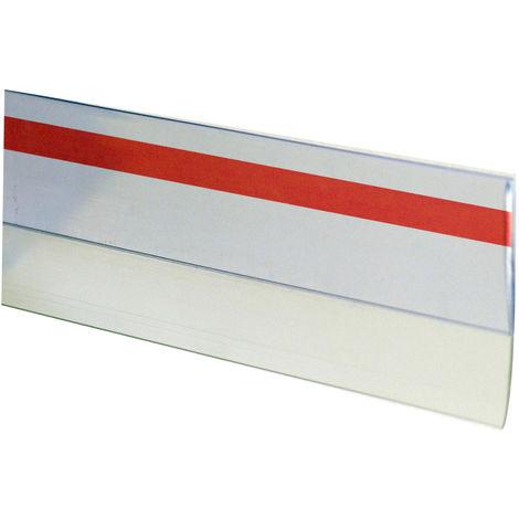 1m. burlete adhesivo de goma transparente (Köppels B1002T) (Bolsa con solapa)