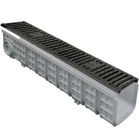 1m caniveau PP+grille fonte C250 130x200x1000