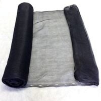 1m x 50m Yuzet Black Debris Scaffold Netting/Windbreak Shade Crop Protection