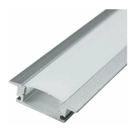 1MTR Perfil Aluminio de empotrar 24x9mm tiras led 12V