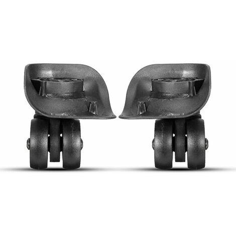 1paire Roulette Roues Pivotante universel pr Baggage Valise noir