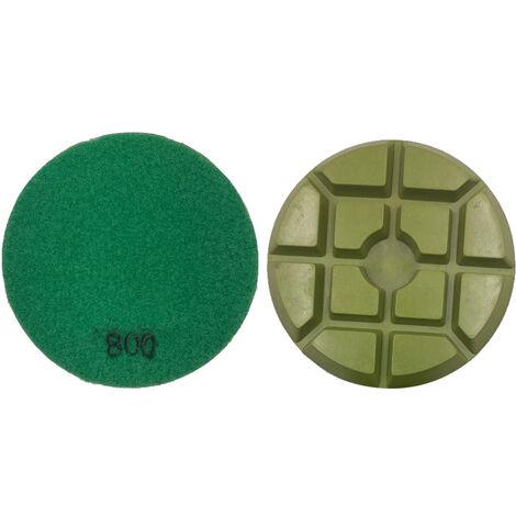 1pc 100mm 4 pulgadas engrosadas Renovacion Wet Disco de lijado Pulidora de restauracion para pulir piso solidificacion disco de diamante en polvo cemento de resina de marmol pulido para la Planta En Beton 800 semola, Verde Oscuro