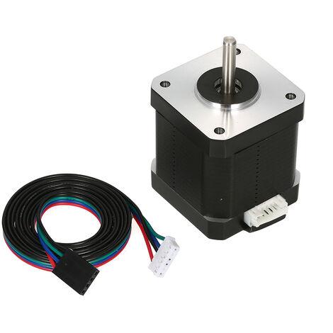 1PC 17HS8401S 48mm Nema 17 Stepper Motor 42 Motor 42BYGH 1.8A 52N.cm 4 fils pour Laser CNC Imprimante 3D avec la ligne DuPont, Avec ligne