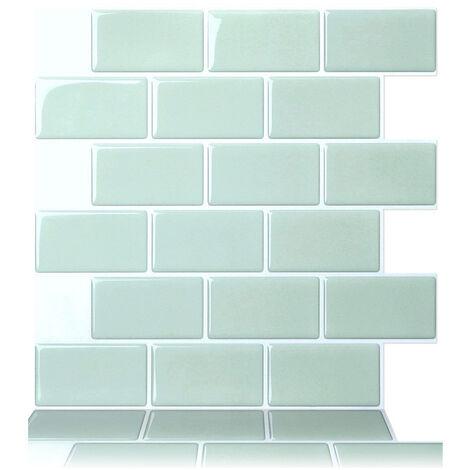 1PC 3D Brick Tile Stickers Bathroom Kitchen Wall Self-adhesive Sticker