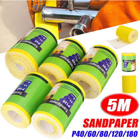 "main image of ""1Pc 5M Sandpaper Roll 40 60 80 120 180 For Wood Paint Handicrafts etc(P80)"""