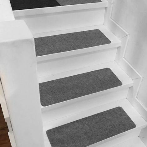 1pc Anti-slip stair mat - 45x20cm Dark gray Hasaki