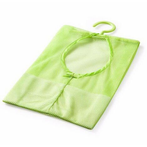 1pc Bathroom Storage Clothespin Mesh Bag Hanging Hooks Bag Savings Box Shower Bath Opberg Bakjes Voor Bathroom Hanging Bag Green