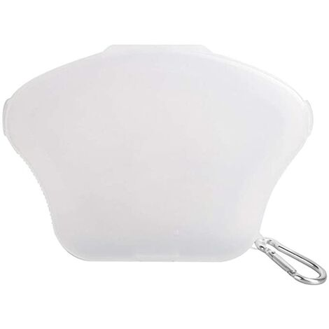1pc Caja de máscara Caja de almacenamiento de máscara portátil Bolsa de almacenamiento de máscara Protector bucal Caja de máscara (blanco transparente)