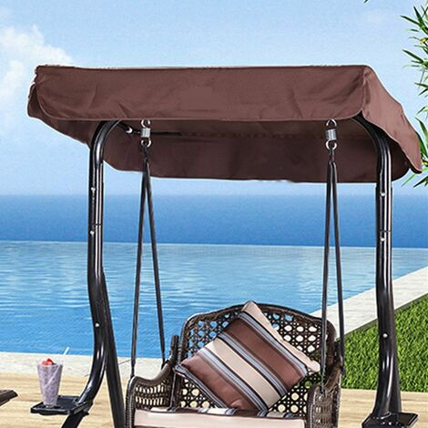 1Pc Canopy Cover 148cmx185cm for 3 Person Swing Coffee LAVENTE