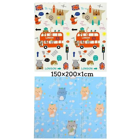 1PC Folding XPE Floor Baby Play Mat Rug Activitys Games Toys Waterproof Anti-skid Type A 150x200cm