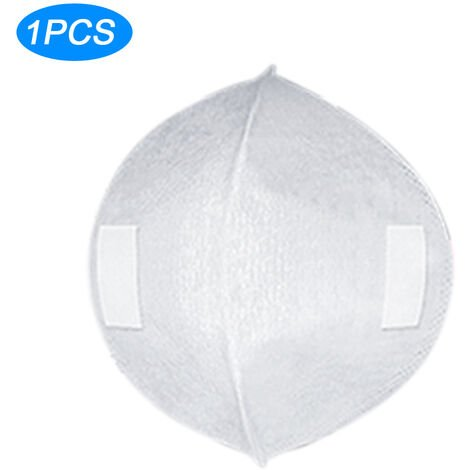 1Pc Jetable Masque Tapis Anti-Poussiere Masque Filtre Masque Facial Joint Replaceable Pad Bouche Masque Inserer 3 Couches De Protection, Blanc