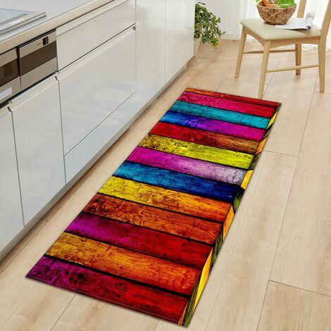 1Pc Kitchen Doormats Floor Mat Water Absorption Non-slip Bathroom Mats Rugs (Type C (120X40cm))