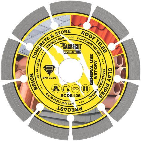 1pc SabreCut 125mm Segmented Diamond Cutting Disc - SCDS125