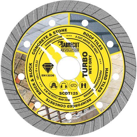 1pc SabreCut 125mm Turbo Diamond Cutting Disc - SCDT125