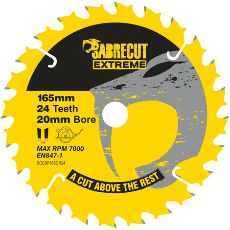 1pc SabreCut 165mm 24T Saw Circular Saw Blade - SCCSF165CR24
