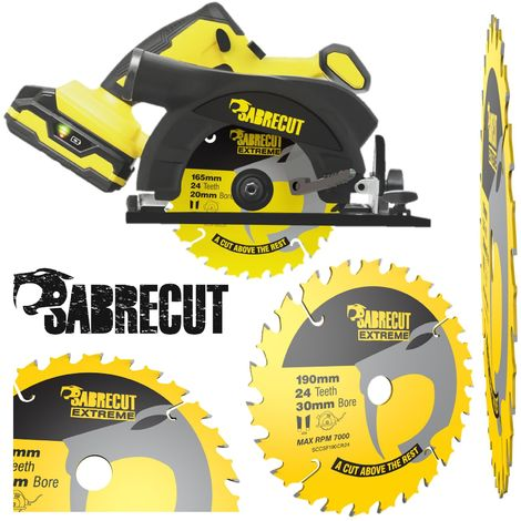 1pc SabreCut 190mm 24T Saw Circular Saw Blade - SCCSF190CR24
