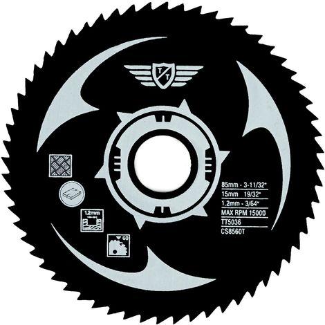 1pc TopsTools 85mm 60T HSS Circular Saw Blade - CS8560T
