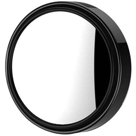 1Pc Voiture Mini Ronde Miroir Angle Mort Auxiliaire Retroviseurs Auxiliaire Rotation 360 ¡ã Grand Angle Convexe Miroir,Noir