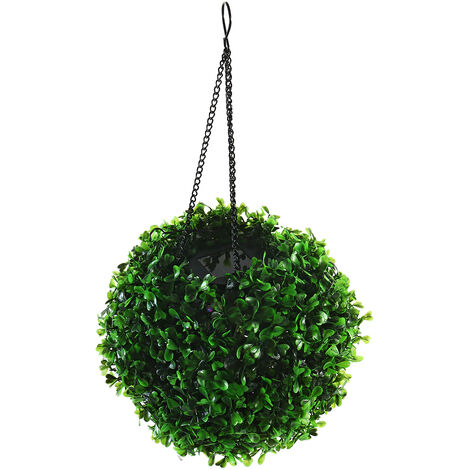 1PCS 20cm Solar Powered LED Light Artificial Topiary Ball Outdoor Wedding Garden Lamp