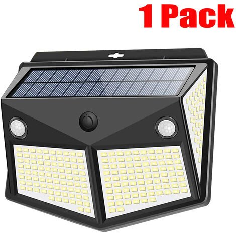 "main image of ""1pcs 260LED Waterproof Wall Solar Lamps Security Lights Outdoor PIR Motion Sensor Night Light"""