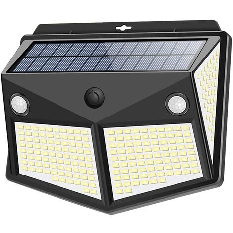 1pcs 260LED Waterproof Wall Solar Lamps Security Lights Outdoor PIR Motion Sensor Night Light