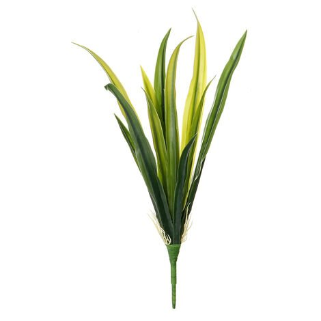 1PCS Artificial Plants Greenery Foliage Plastic Grass Fake Leaf Plastic Decoration Vase not included