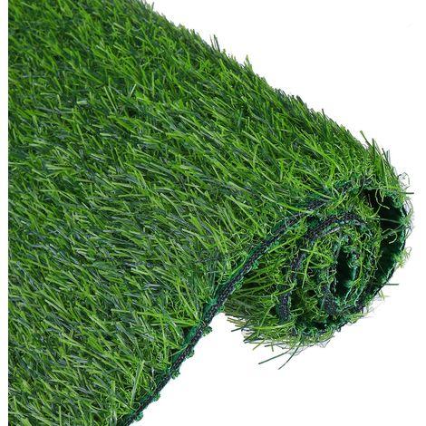 1pcs Gazon Artificiel Rouleau Reste Offcut Tapis Réaliste Vert Jardin 0.5x1m 1cm épaisseur Hasaki